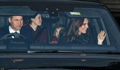 Prince William also appeared to be in a festive mood, smiling to the crowds as he made his...
