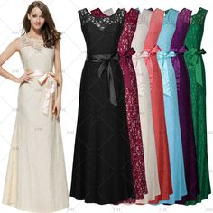 Womens Long Prom Dresses Gown Party Evening Party Bridesmaid Cocktail Maxi Dress #CIKE #Maxi #Formal