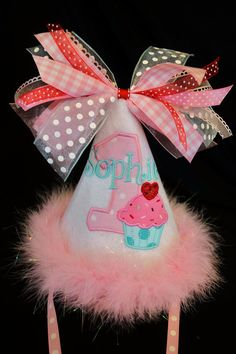 1st Birthday Party Hat Divine Sweetheart by sunshinedaydream4u