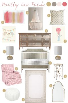design inspiration: nursery | pretty in pink | @Caroline Shook Interiors