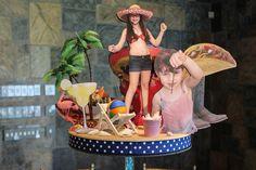 Travel Themed Centerpiece Beach Travel Themed 3D Diorama Centerpiece for Travel…