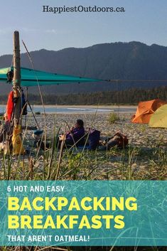 6 hot and easy backpacking breakfasts - that aren't Oatmeal! Hot breakfasts for hiking and camping. best camping snacks, good camping snacks, desserts for camping Hiking Food, Backpacking Food, Hiking Tips, Camping Meals, Camping Hacks, Camping Recipes, Camping Jokes, Hiking Checklist, Camping Dishes