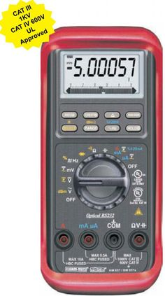 KM 857- Hand Held Digital Multimeter-Kusam Meco - Total Automation • DC Voltage Basic Accuracy 0.03% • Fully Autoranging • Backlighted display. • Fast Data Measurement 5/sec • Data Hold function • Diode Test & Duty Cycle • Audible & Visible input warning. • Auto Power Off