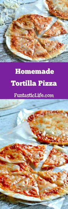 Homemade Tortilla Pizza Recipe #pizzarecipes #tortillarecipe #Recipe