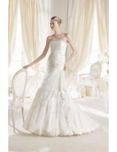 Bodenlanges Ausgefallenes Hochzeitskleid aus Organza
