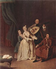 Page: The Family Concert  Artist: Pietro Longhi  Completion Date: 1760  Style: Rococo  Genre: genre painting  Gallery: Ca' Rezzonico, Museo del Settecento, Venice