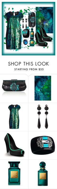 """""""Untitled #846"""" by artsygal ❤ liked on Polyvore featuring Nancy Gonzalez, WALL, Manon Baptiste, Givenchy, Shoes of Prey, Kenneth Jay Lane, Tom Ford and Andara"""