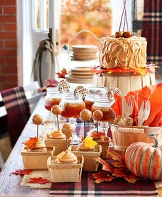 Host an old-fashioned hoedown, complete with ginger and caramel treats, and all decked out in plaid. Barn Dance Party, Caramel Treats, Fall Is Here, Party Themes, Party Ideas, Thanksgiving, Entertaining, Birthday, Desserts