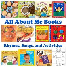 All About Me Books, Rhymes, Songs, and Activities