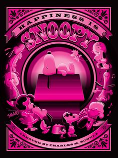 "JEFF GRANITO ""HAPPINESS IS SNOOPY"" VARIANT JOE COOL PINK Edition of 50"