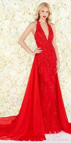 8d4257725ac Have a wow moment as your make a grand entrance in the Plunging Embellished  Lace Fitted