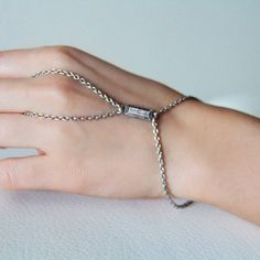 $91 Silver Facets Ring Bracelet by Bita Pourtavoosi.  Shop here: http://www.trendcy.com/silver-facets-ring-bracelet/