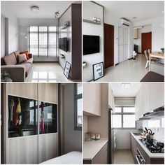 HDB 2 Room BTO for singles. 47sqm apartment interior design ...  Room Flat Kitchen Design Singapore on