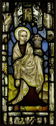 Stained Glass Panel with St. Barbara.  Date:     1460. Culture:     British.