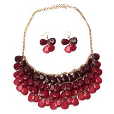 Pink Ombre Statement Necklace