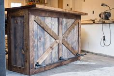 Rustic Bar / Wine Bar / Liquor Cabinet / Dry Bar / Wine Storage / by UrbanID on Etsy https://www.etsy.com/listing/452353938/rustic-bar-wine-bar-liquor-cabinet-dry