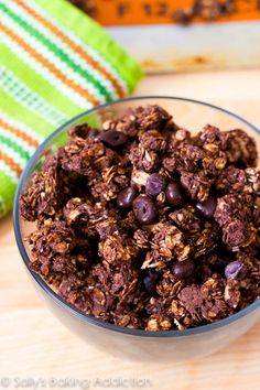 Triple Chocolate Crunch Granola from @Sally M. [Sally's Baking Addiction]