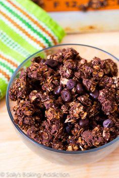 Triple Chocolate Crunch Granola from @Sally M. [Sally's Baking Addiction]
