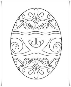Easter Coloring Page Stained Glass Egg Michelle Collins