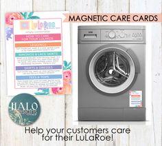 LuLaRoe MAGNETIC Care Cards - Flowers, business cards, thank you cards, size cards, care cards by HALOdesignsSHOP on Etsy https://www.etsy.com/listing/399397483/lularoe-magnetic-care-cards-flowers