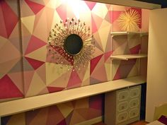 Love the paint treatment to liven up a boring closet wall - @Laurie Ross Shiny Things