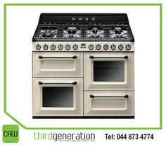 Always dreamed of having a #Smeg stove? With a great choice of sizes and colours, there's a style to suit every kitchen at #ThirdGenerationCAW. Contact us on 044 873 4774 for more information.