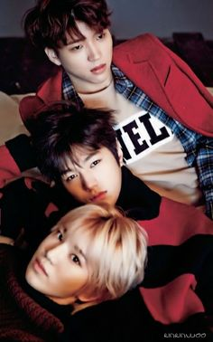 Woohyun 우현, L엘, and Sungjong 성종 from INFINITE 인피니트
