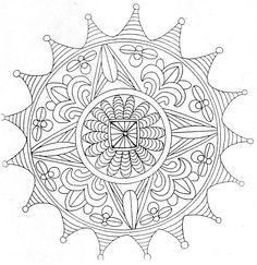 Mandala Colorier Danse Shiva
