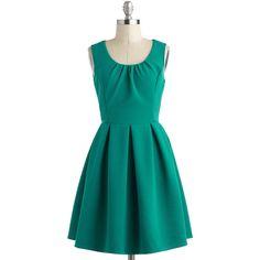 Teal Twirl Dress ($50) ❤ liked on Polyvore