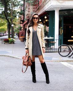 October in NYC. Wearing @mgemi today on withlovefromkat.com ❤️ @liketoknow.it www.liketk.it/1NRe0 #liketkit #lovemgemi #boots #trenchfall #o