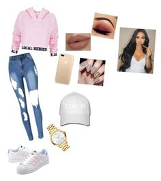 """Без названия #216"" by kristinakotenko on Polyvore featuring мода, Local Heroes, adidas Originals и Movado"