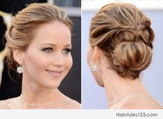 low bun hairstyles for medium length wavy hair - Google Search