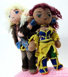 Cutter and Leetah are characters from Elfquest. They turned out to be one of my favorite projects since their comic book counterparts translated really well into amigurumi. It took me forever to ma...