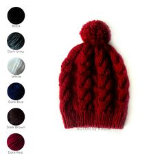On the cold days all you'll want is this slouchy beanie in your head to warm you...  http://notonbyraquel.bigcartel.com/product/cable-knit-pom-pom-beanie