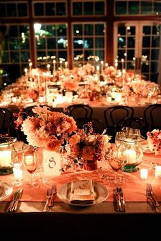 Give your indoor reception a warm glow | Community Post: 32 Pinterest Inspired Ideas To Fall Into Your Wedding
