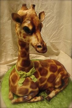 giraffe cake by debbiedoescakes, via Flickr. I can't imagine being able to do this!!!!!!!!!!!!!!!!!!!!!