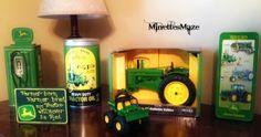 Boys John Deere Room and a DIY Tractor Bed!