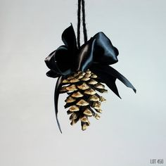 Hey, I found this really awesome Etsy listing at https://www.etsy.com/listing/255696348/pine-cone-ornament-black-christmas-goth