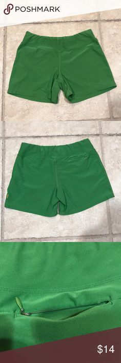 Lucy shorts Green Lucy shorts. Good condition, size medium. Medium green color. Inseam flat approx. 4 3/4in Lucy Shorts