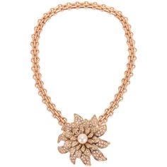Pre-Owned Chanel Gold Crystal and Pearl Camellia Flower Pendant Choker (141.205 RUB) ❤ liked on Polyvore featuring jewelry, necklaces, gold, flower necklace, pearl necklace, pearl pendant, pearl pendant necklace and choker necklace