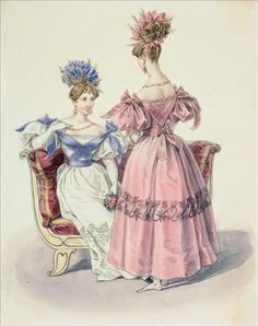 1831. Evening dress, French.