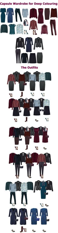 Autumn business wear capsule wardrobe example