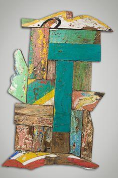 Decorative Reclaimed Wood Art Panel by EcologicaMalibu on Etsy