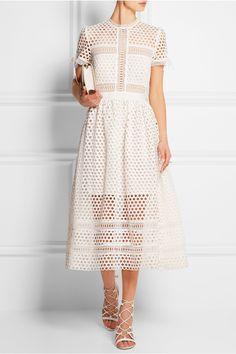 SELF-PORTRAIT Macramé lace midi dress  £283.33 https://www.net-a-porter.com/products/585133