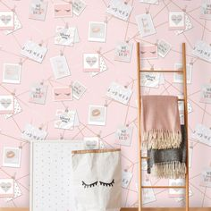 This fun Dream Lashes Wallpaper in pretty tones of pink and grey has a feminine design with motivational phrases, lips, lashes and metallic rose gold detailing Brick Effect Wallpaper, Luxury Wallpaper, Contemporary Wallpaper, Paper Wallpaper, Tree Wallpaper, Designer Wallpaper, Nursery Wallpaper, Wallpaper Ideas, Iphone Wallpaper