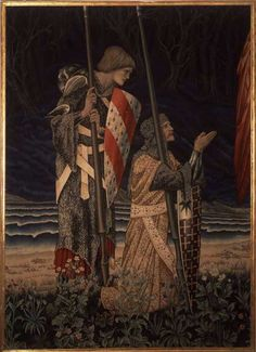 Perceval and Bors complete the Trio of knights who achieve the quest for the Grail Hallows.