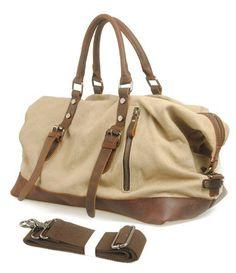 Cow Leather bag/ Men's leather canvas Bag/ leather canvas Briefcase / Messenger bag / Laptop bag