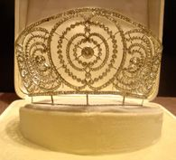 Platinum And Diamond Tiara Made In 1920's