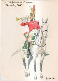 French; 1st Dragoons, Trumpeter, 1805 by H.Knotel