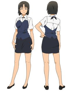 Shirafuji Kyōko, the manager of Wagnaria. She usually maintains a rather apathetic attitude towards the restaurant she runs and almost never bothers to do any work herself. Instead, she is seen constantly eating food such as Yachiyo's parfaits and Otoo's souvenirs. She is not beyond using violence to deal with unruly customers and firmly believes that employees come before the customers.
